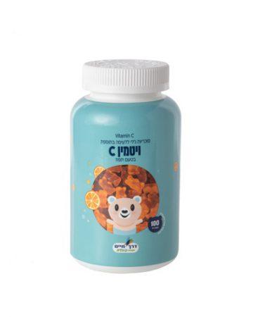 סוכריות ג'לי ללעיסה בתוספת ויטמיו C בטעם תפוז 100 מכיל סוכריות ג'לי.